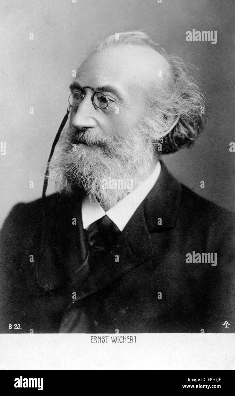 Ernst Wichert. German author and jurist. 11 March 1831–21 January 1902 - Stock Image