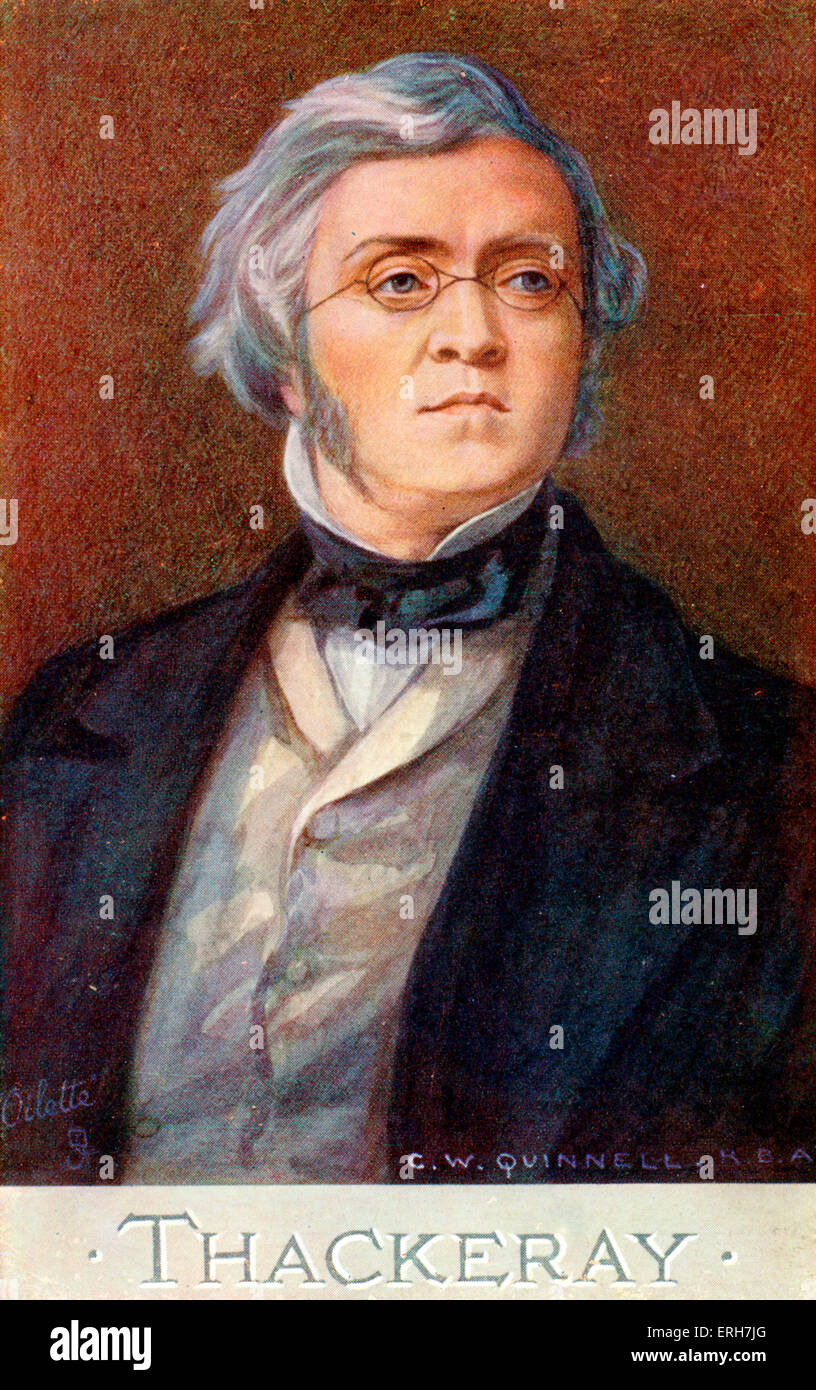 William Makepeace Thackeray. English novelist, 18 July 1811 - 24 December 1863 - Stock Image