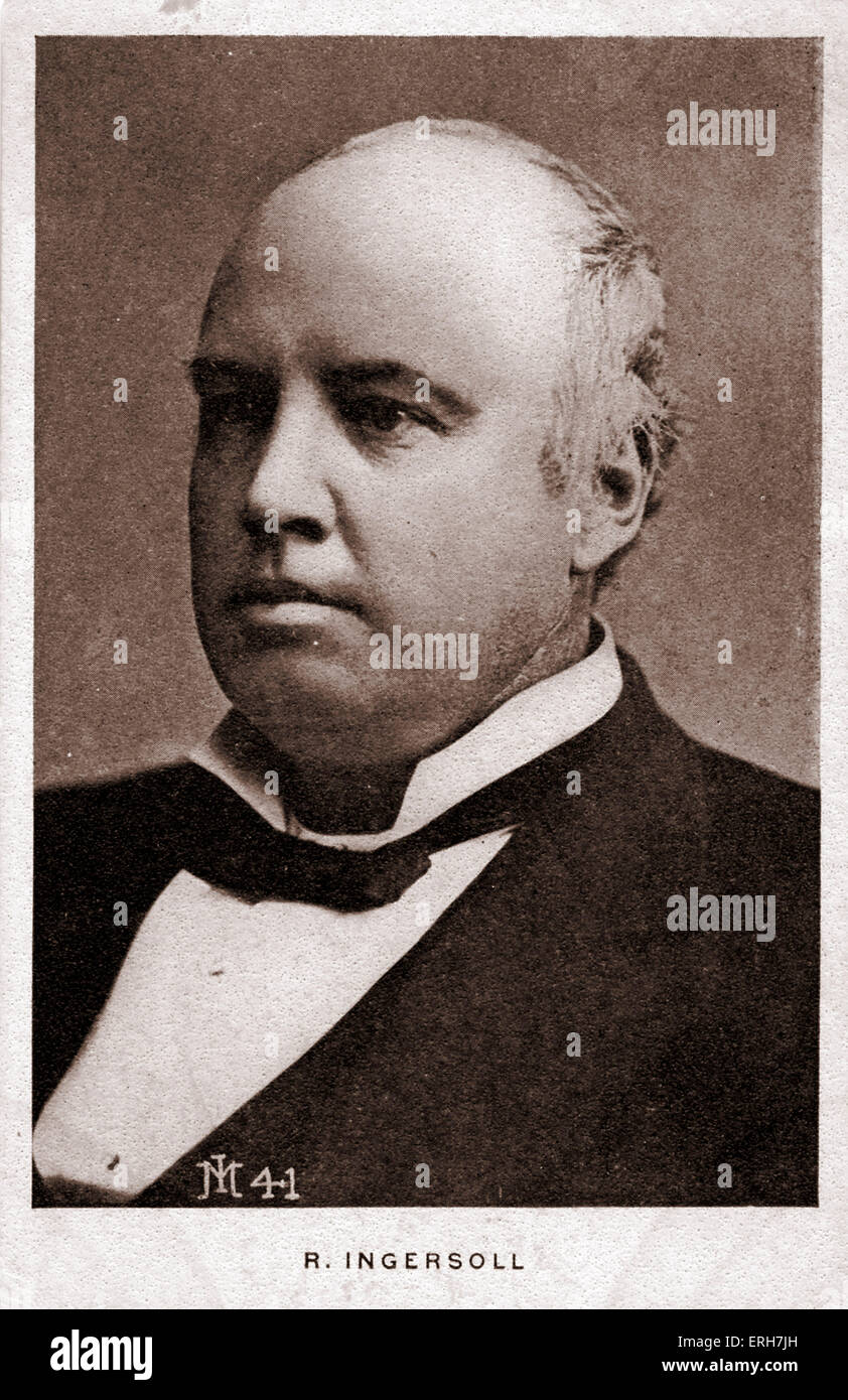 Robert Ingersoll (Bob) - was a Civil War veteran, American political leader, and orator during the Golden Age of - Stock Image