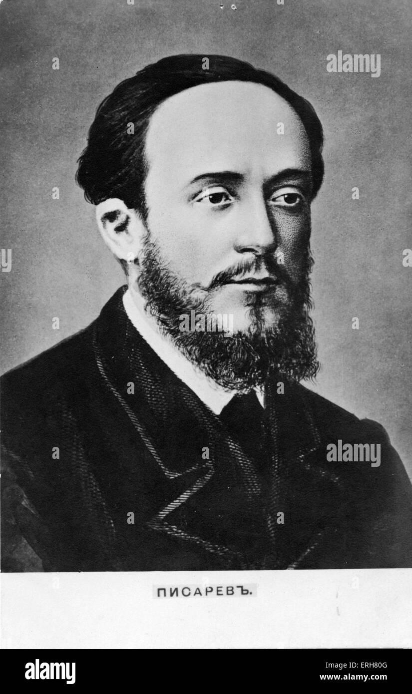 Dimitri Pisarev - portrait. Radical Russian writer and social critic: 14 October 1840 - 16 July 1868. - Stock Image
