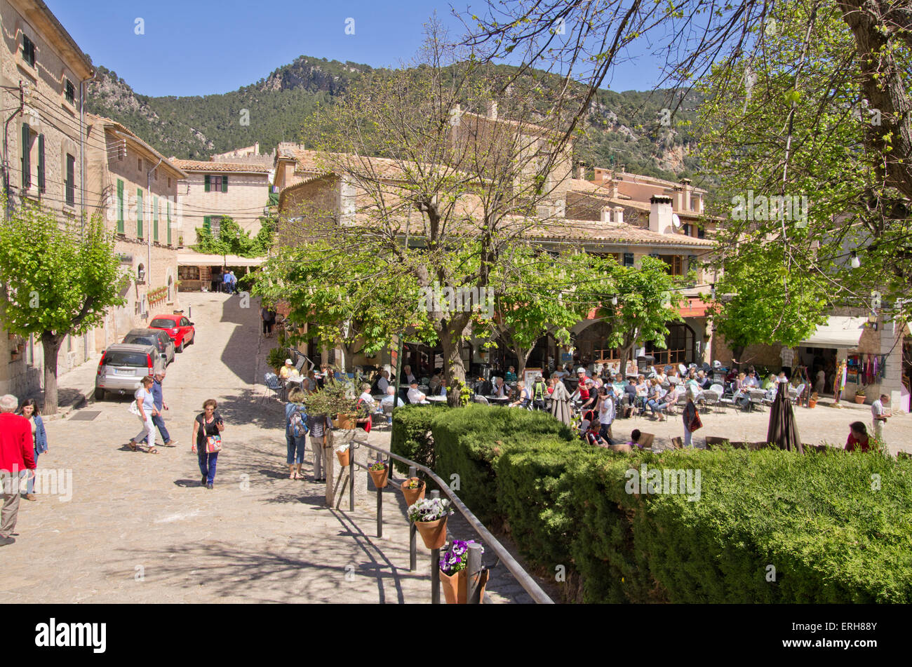 Valldemossa old town - Stock Image