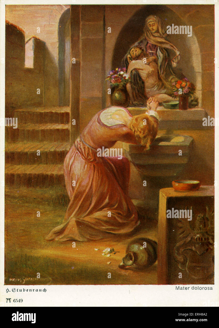 Faust by Johann Wolfgang von Goethe. German writer and philosopher: 28 August 1749 – 22 March 1832. Illustration - Stock Image