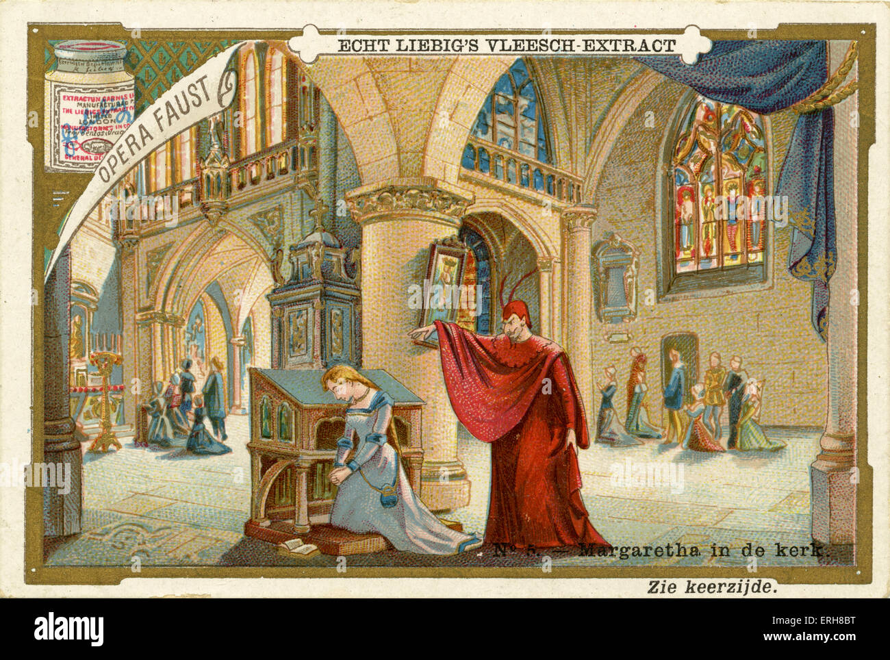 Faust - the Opera ('Opera Faust'). Published 1892. Opera by Charles Francois Gounod, French composer: 18 - Stock Image