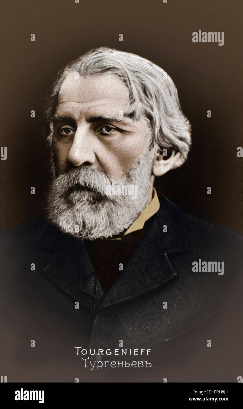 TURGENEV, Ivan  Russian writer, (1818-1883) 1818-1883 - Stock Image