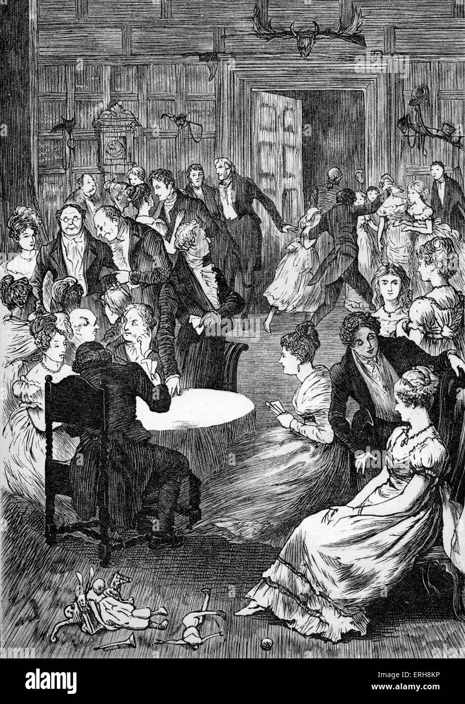 Old Christmas by Washington Irving. Christmas Eve gathering. Caption ...