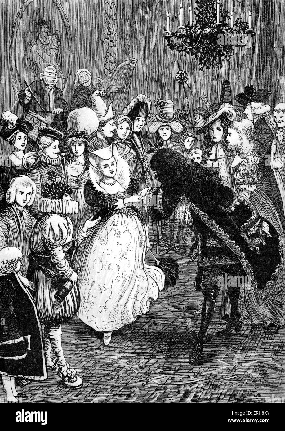 Old Christmas by Washington Irving: Christmas Day Dance - fancy ...