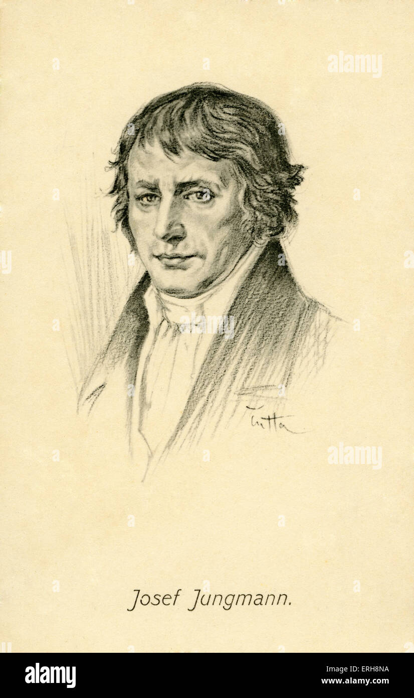 Josef Jungmann - portrait. Bohemian poet and linguist, and a leading figure of the Czech National Revival. Considered - Stock Image