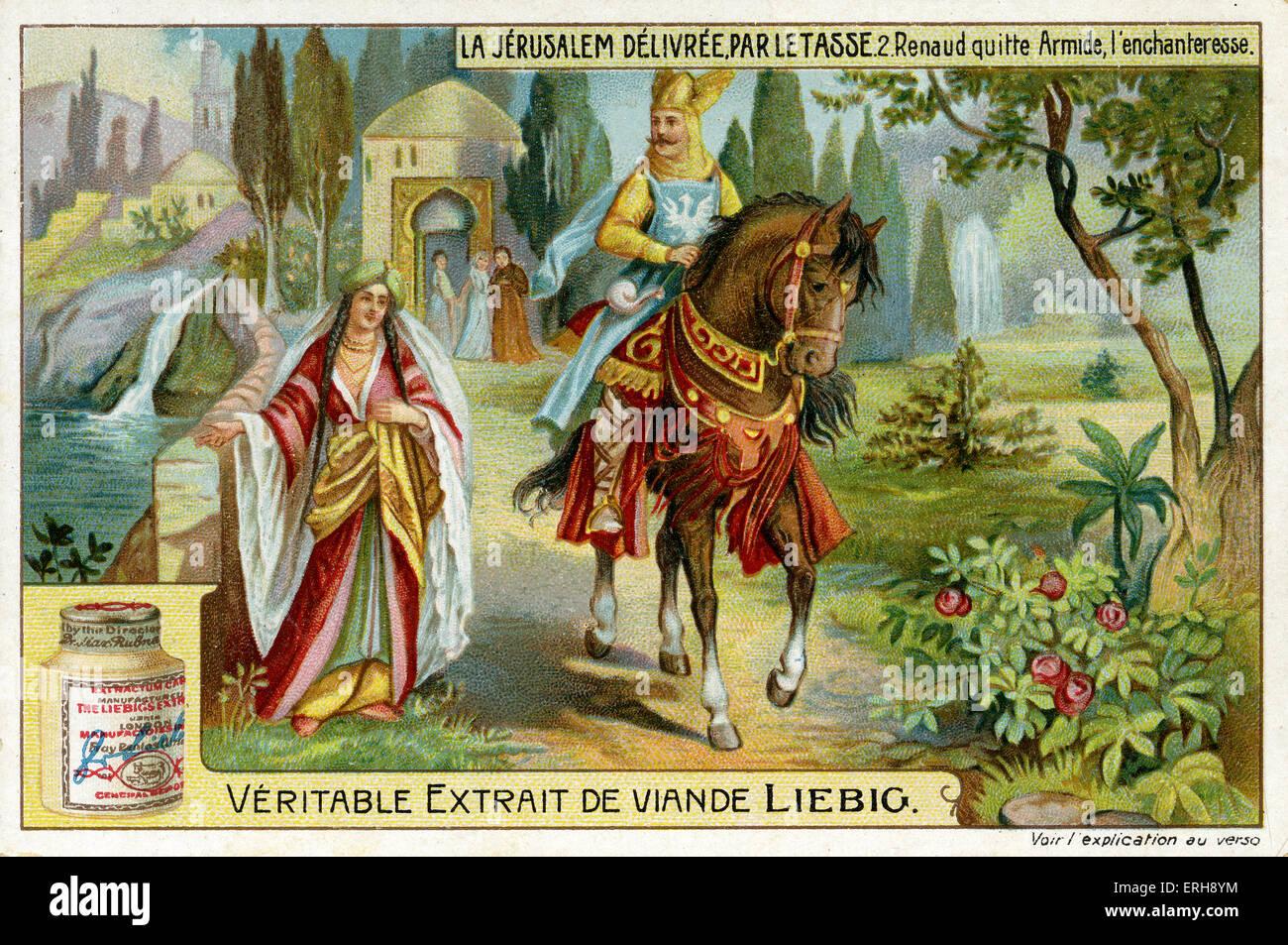 'Jerusalem Delivered' by Torquato Tasso ('La Gerusalemme liberata'). Illustration of 1910.   Rinaldo - Stock Image