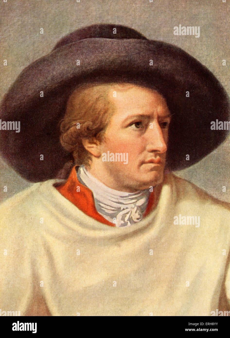 GOETHE,  Johann Wolfgang von German writer and poet  (1749 - 1832)  by J.H.W. Tischbein Stock Photo