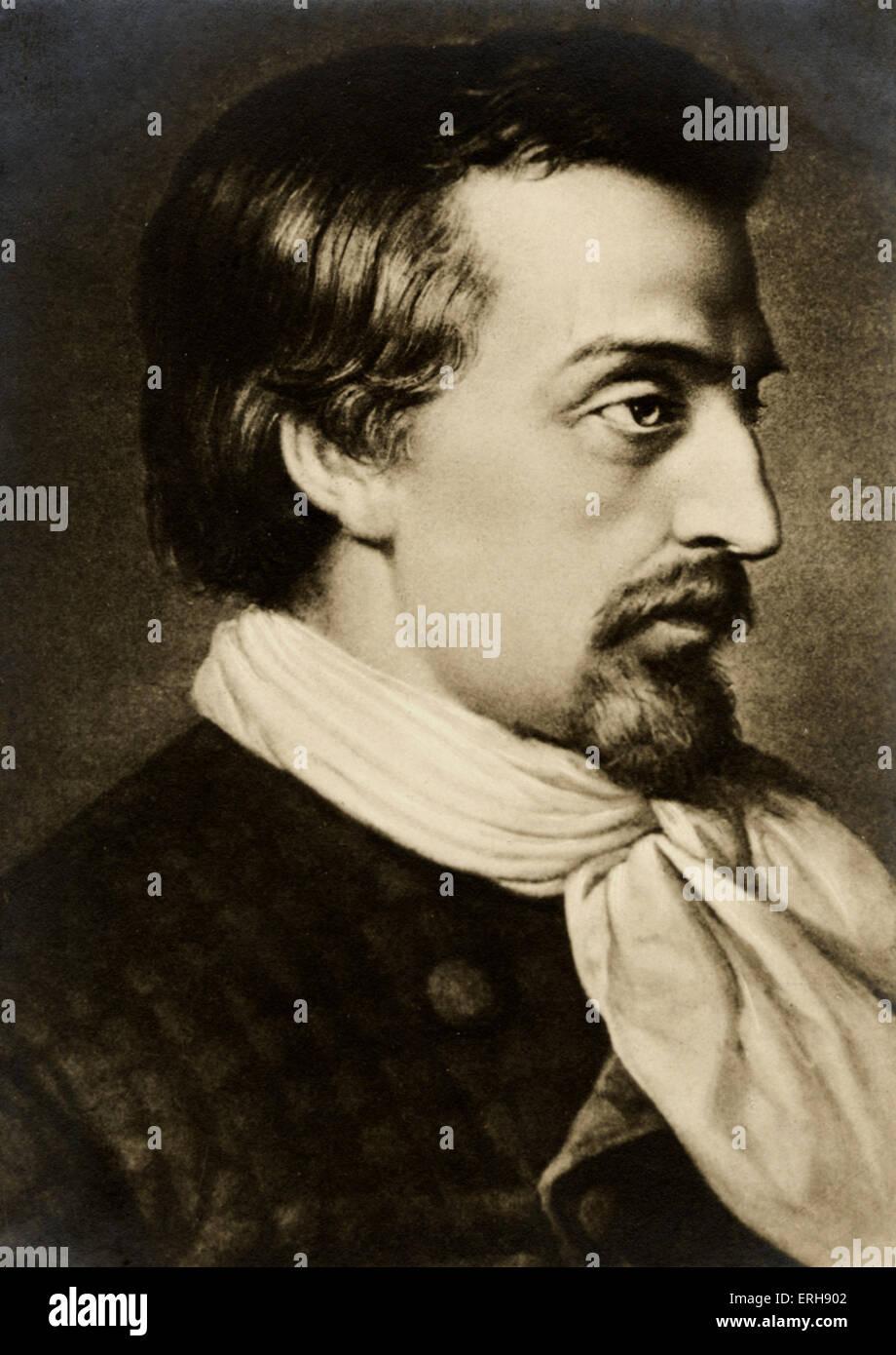 HEINE, Heinrich German poet, 1797-1856. - Stock Image