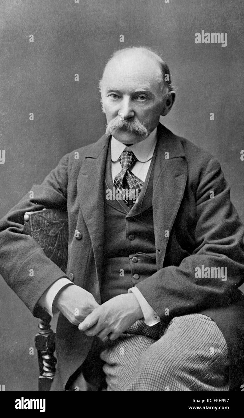Thomas Hardy - portrait of the English novelist and poet. 2 June 1840 - 11 January 1928. - Stock Image