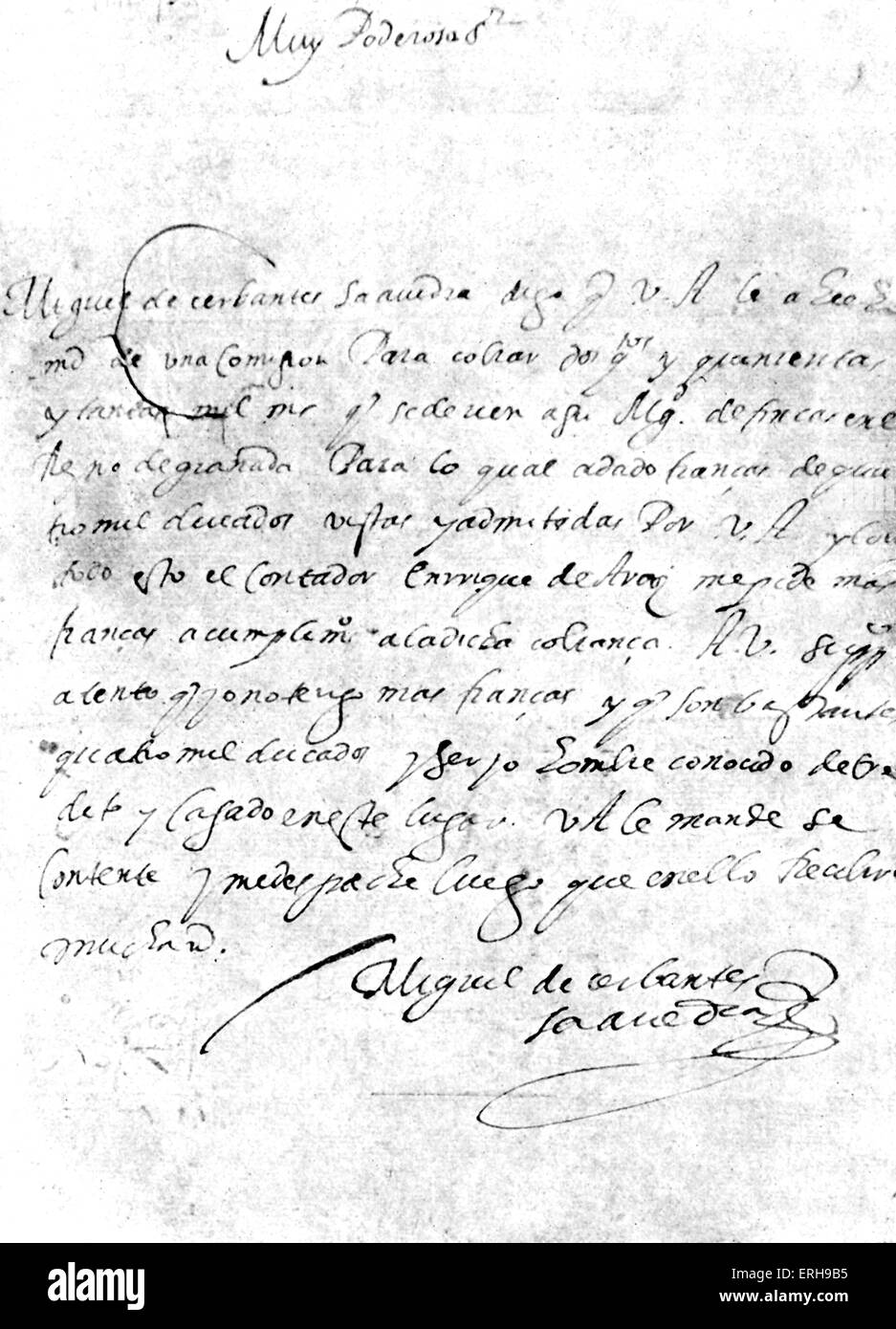 letter by miguel de cervantes handwritten spanish novelist poet and playwright 29