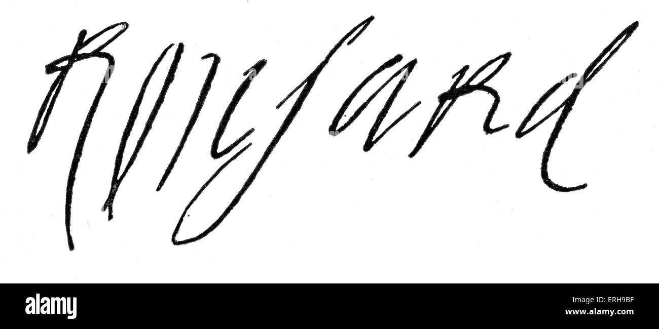 Rosnard 's signature. French poet, 1524 - 1585. - Stock Image