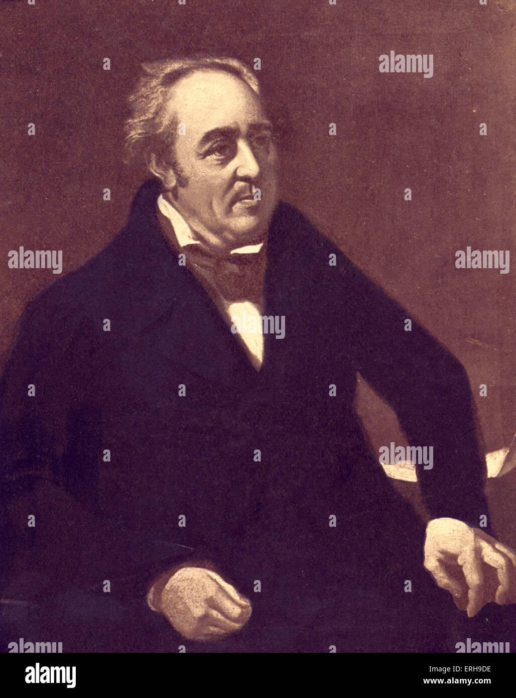 Walter Savage Landor - portrait. English writer and poet. 30 January 1775 – 17 September 1864. - Stock Image