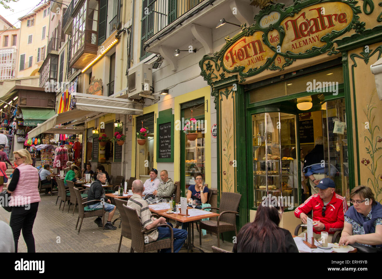 Palma Majorca Forn des Teatre bakery and cafe - Stock Image