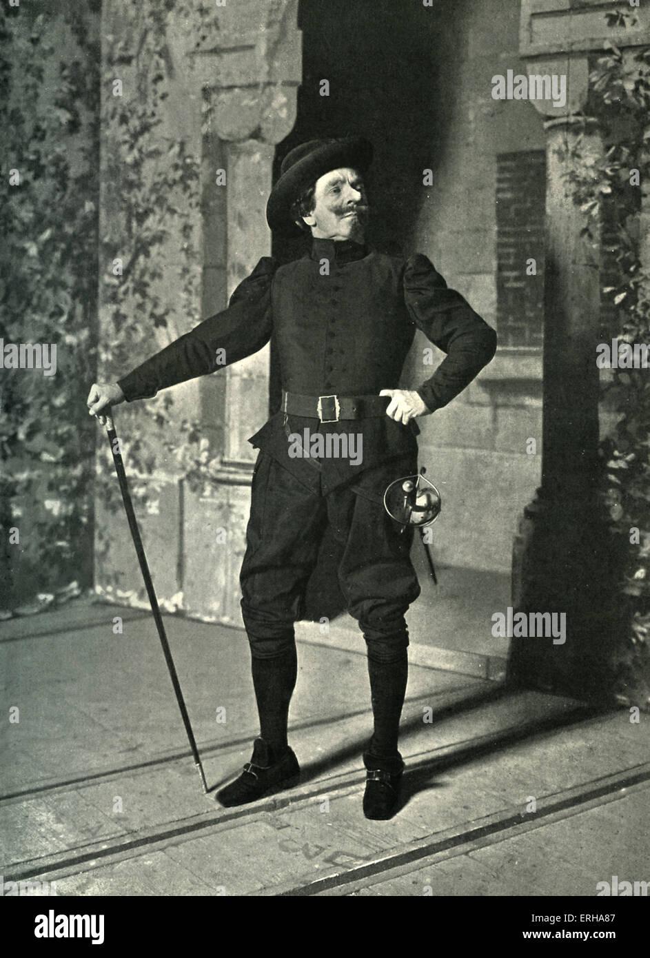 Coquelin Aîné as Cyrano de Bergerac 1898. Portrait photograph of the actor dressed as Cyrano de Bergerac - Stock Image