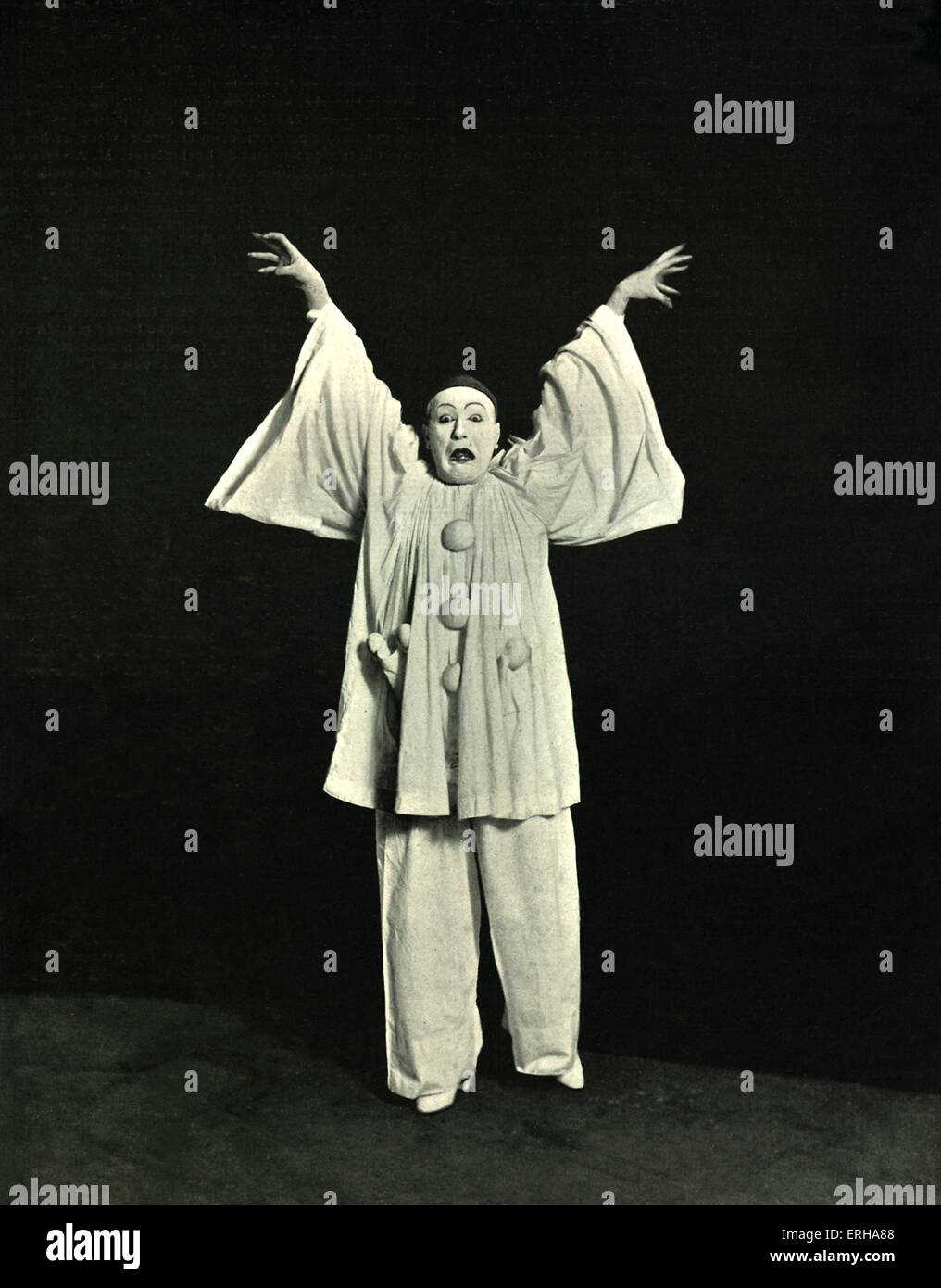 Catulle Mendes - Le Docteur Blanc. Mime drama with music by Gabriel Pierné. Severin Cafferra, known as Severin - Stock Image