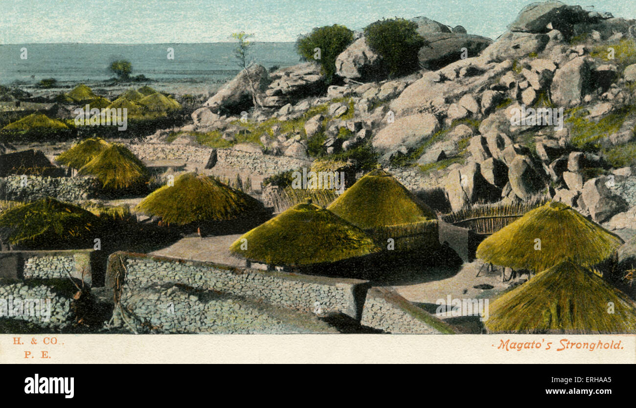 'Magato's Stronghold' was the name given to the settlement founded by King Mzilikazi (c.1790-1868) of - Stock Image