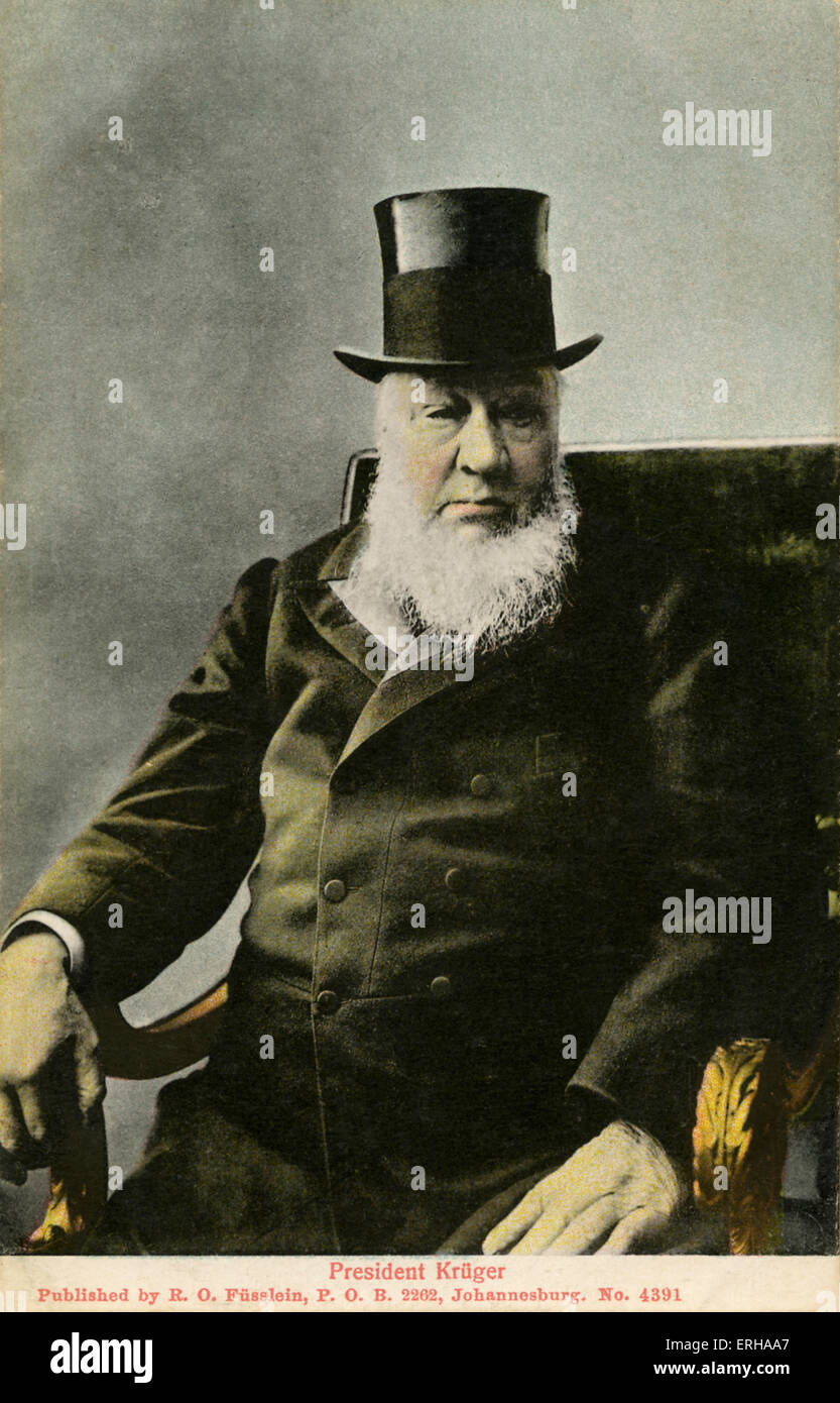 Paul Kruger (1825-1904). Kruger was the president of Transvaal between 1883-1900, and came to fame as the face of - Stock Image