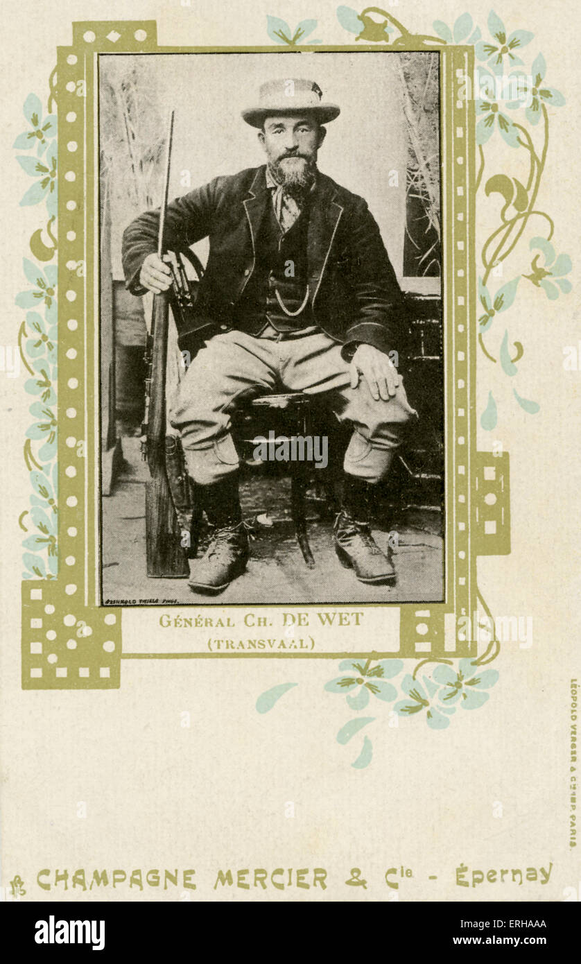 General Christiaan de Wet (1854-1922). General de Wet fought for Transvaal in the Second Boer War (1899-1902), and - Stock Image