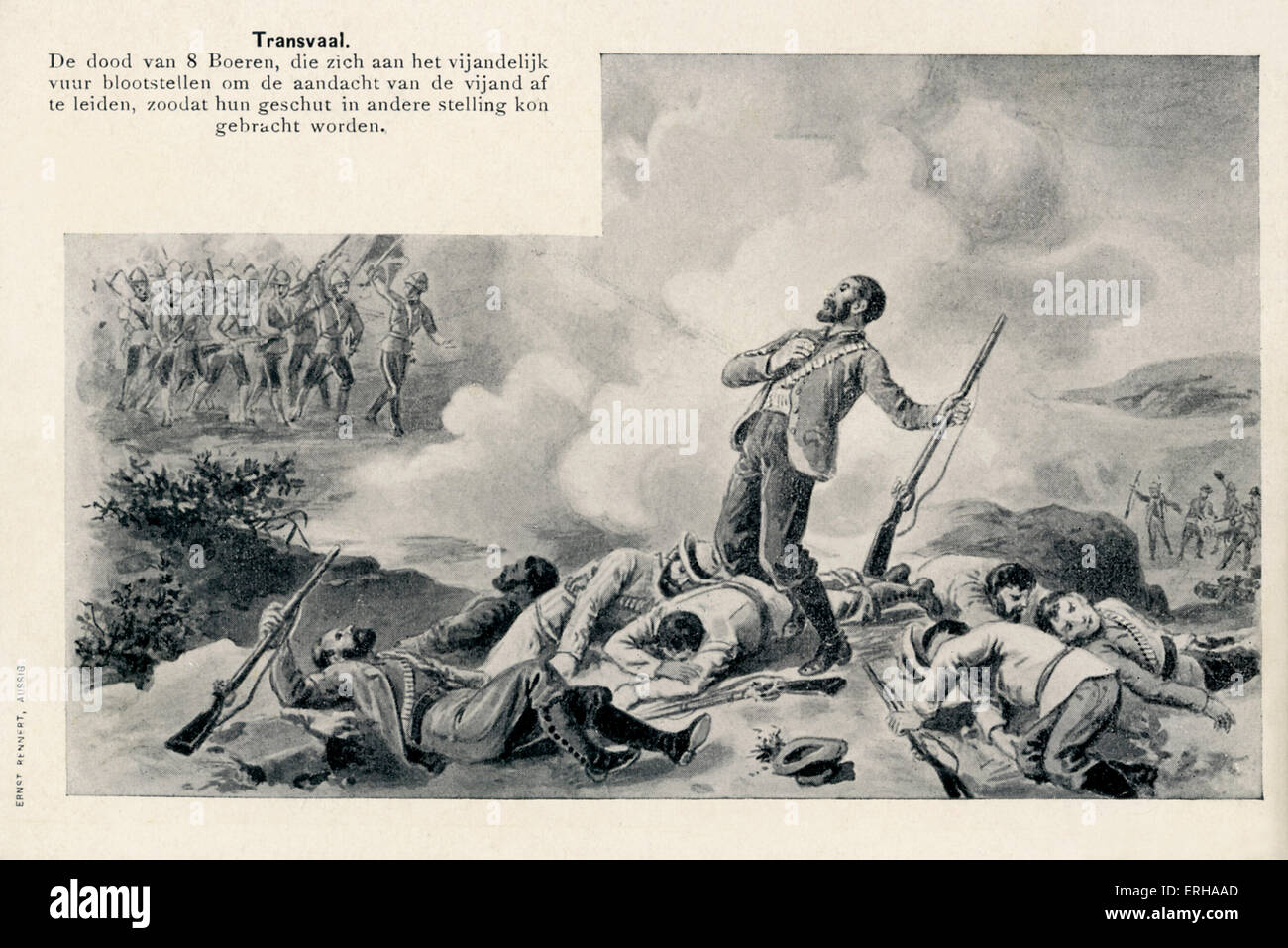 Death of Eight Boer Soldiers at the hands of British colonial forces during the Second Boer War (1899-1902) in Transvaal. - Stock Image
