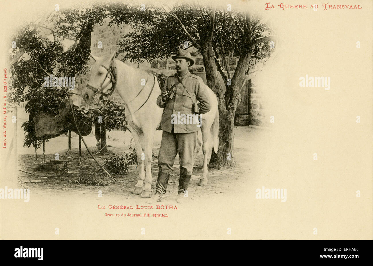General Louis Botha (1862-1919) was commander of the Transvaal Boers, and would become South Africa's first - Stock Image