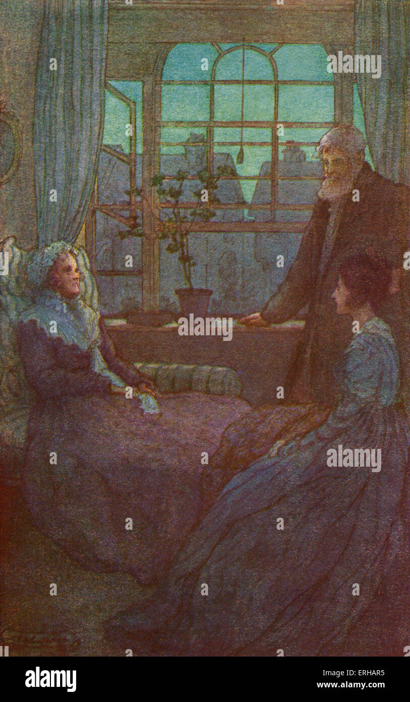 Cranford by Elizabeth Gaskell. Illustrations by M V Wheelhouse (1895-1933). Caption reads: Mr. Peter Broke in: 'Do - Stock Image