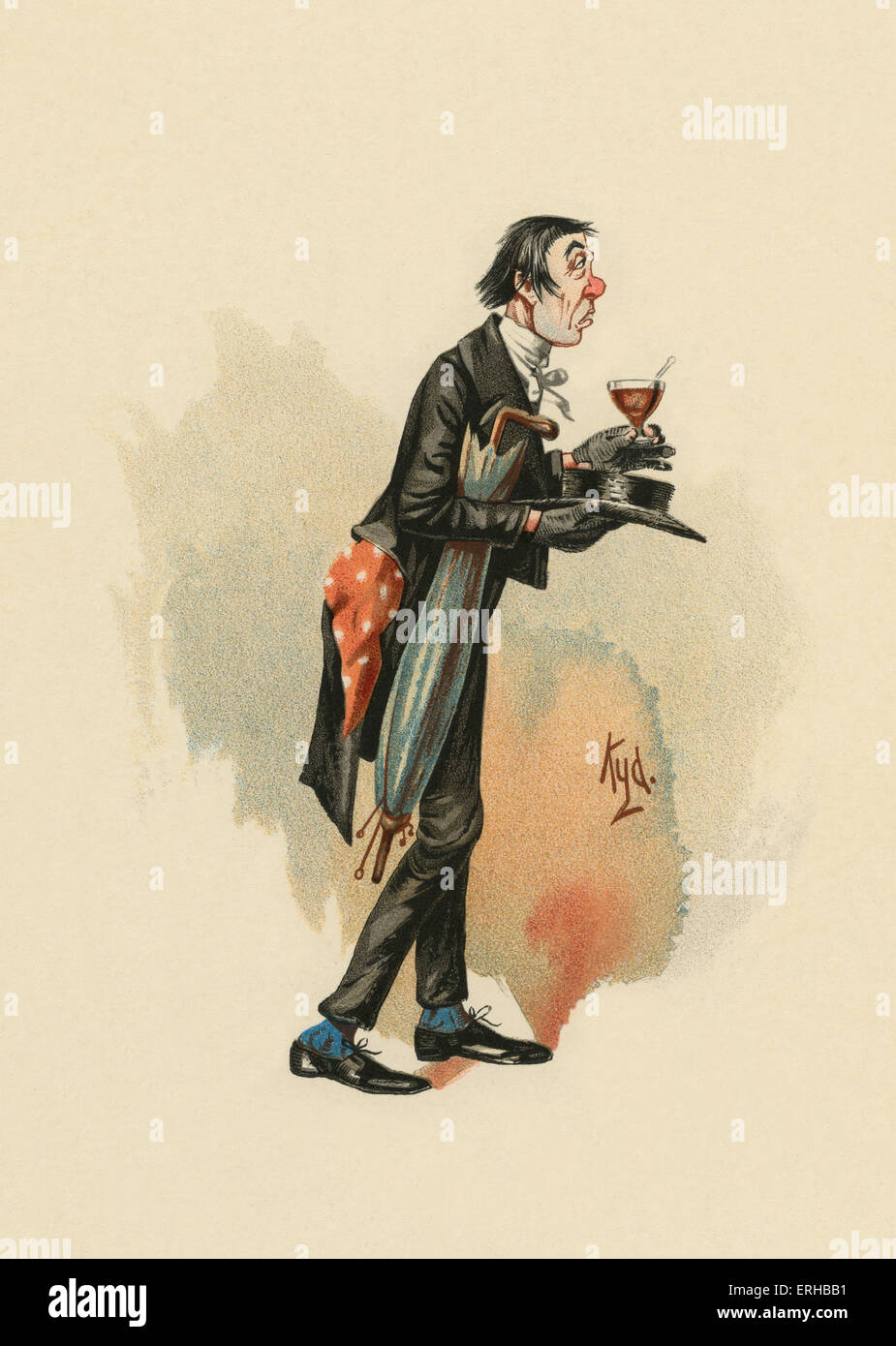 The Pickwick Papers by Charles Dickens (1836). Illustration of Mr. Stiggins. Caption reads: '[Mr. Stiggins] - Stock Image