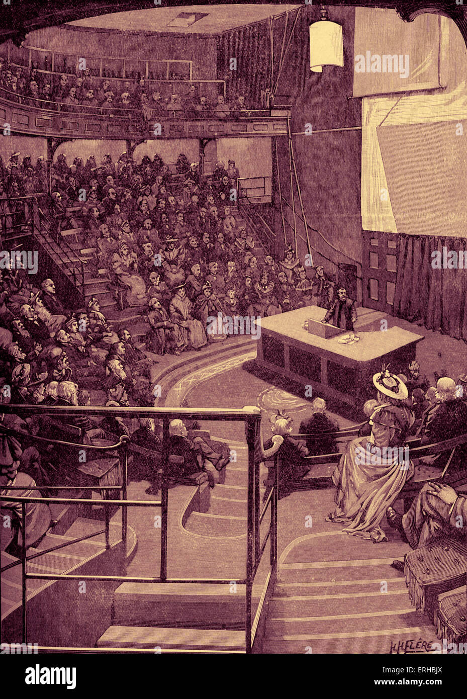 Lecture room at the Royal Institution, 21 Albermarle Street London.The Royal Institution, founded in March 1799, - Stock Image