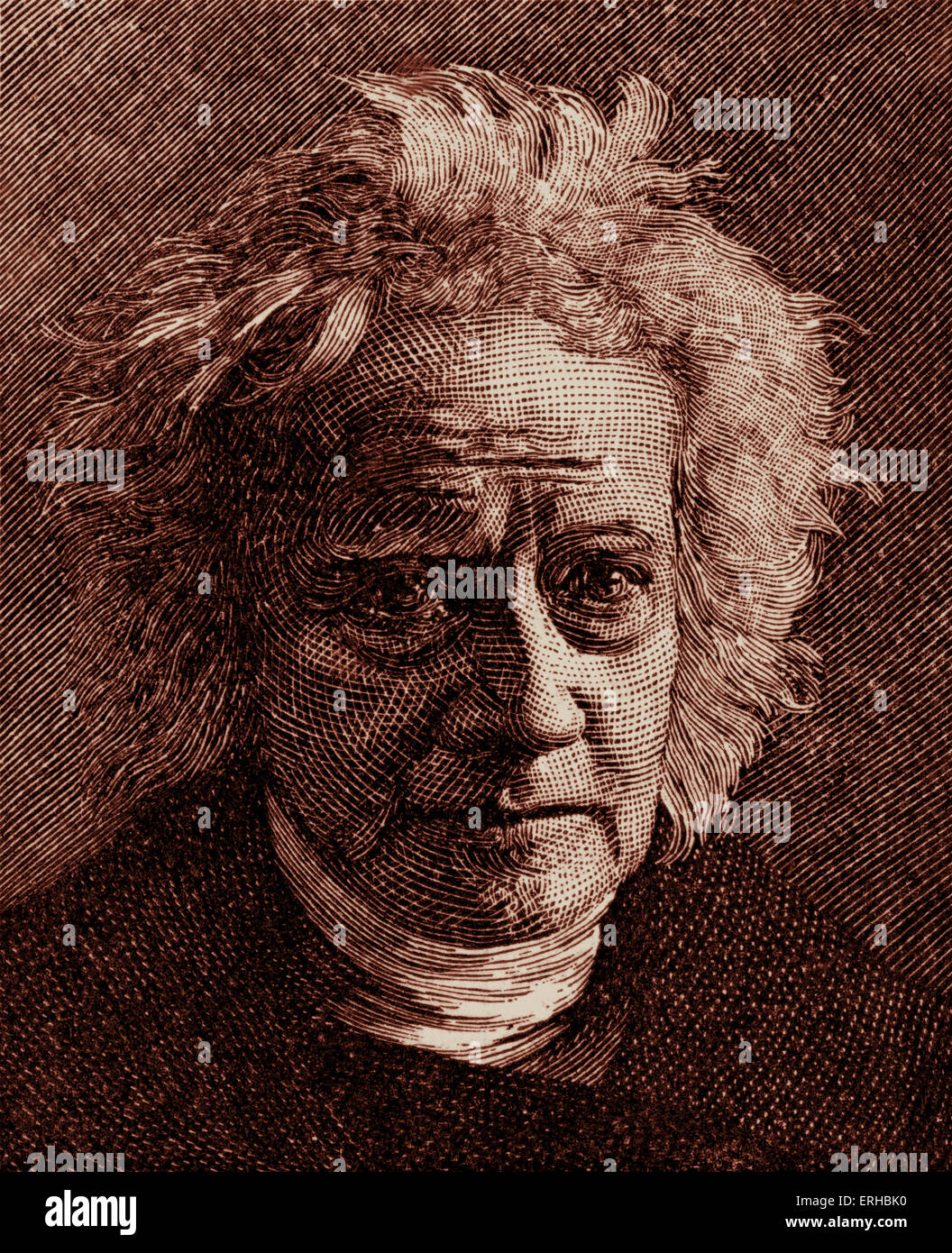 Sir John Herschel (1792 – 1871).  English mathematician, astronomer, chemist, and experimental photographer/inventor. - Stock Image