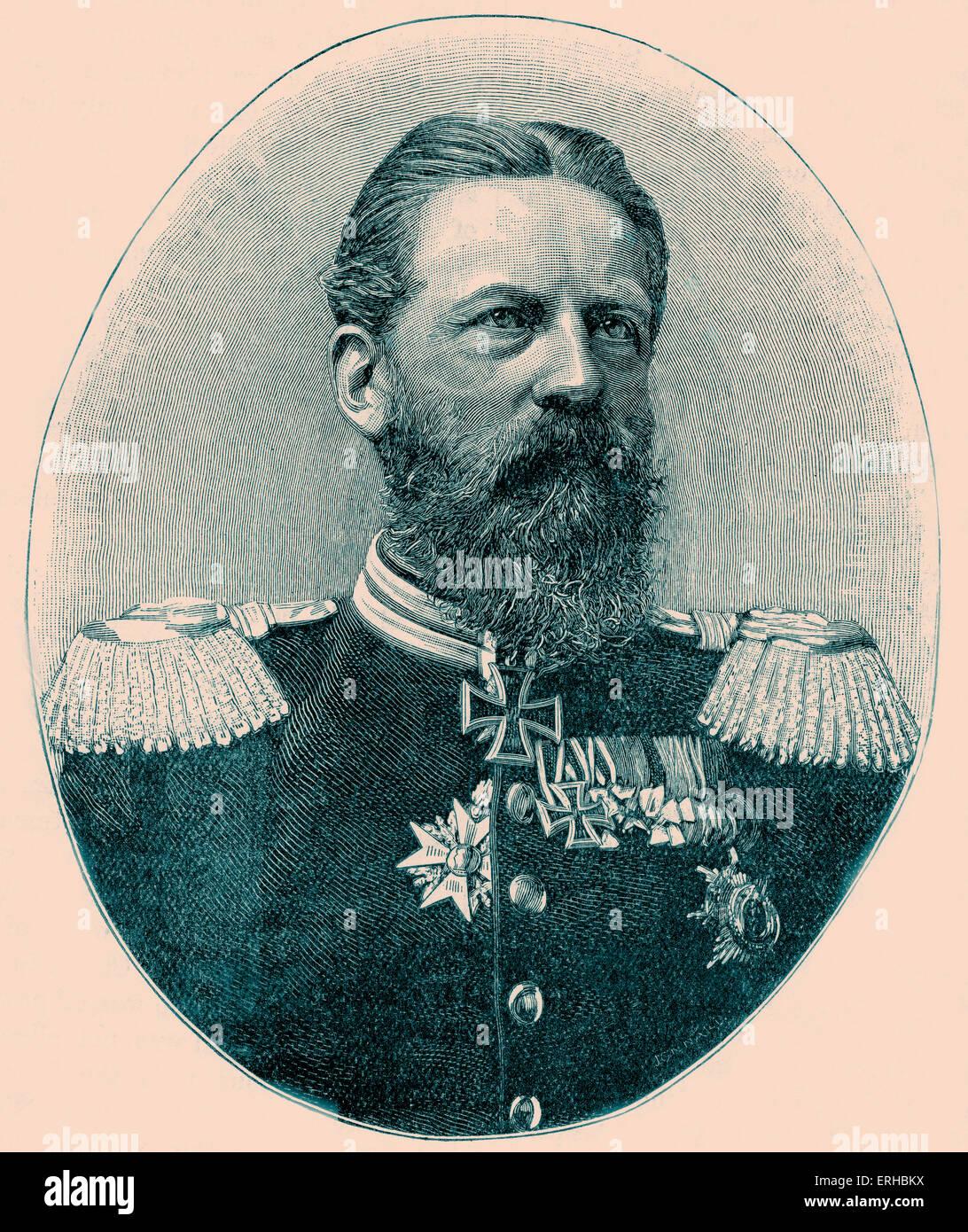 Emperor Frederick III / Friedrich Wilhelm Nikolaus Karl / Fritz (8 October 1831 – 15 June 1888).  German Emperor - Stock Image