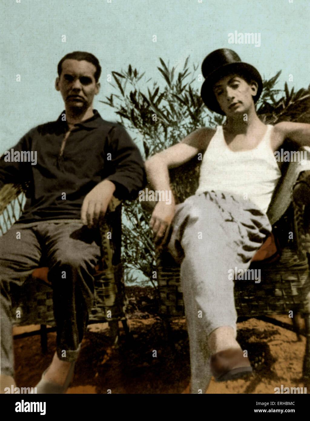 Federico García Lorca (left) and Salvador Dali - in Cadaqués, Spain. Photo by Enrique Beck. FGL, Spanish - Stock Image