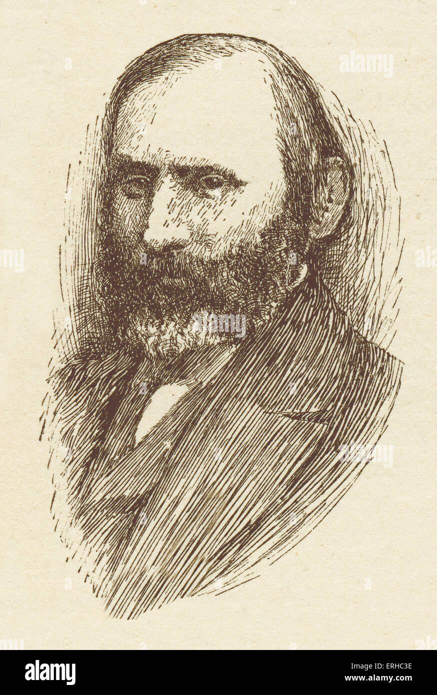 Abraham Mapu, portrait. LithuanianJewish novelist in Hebrew,  of the 'Haskalah' movement (Jewish enlightenment) - Stock Image