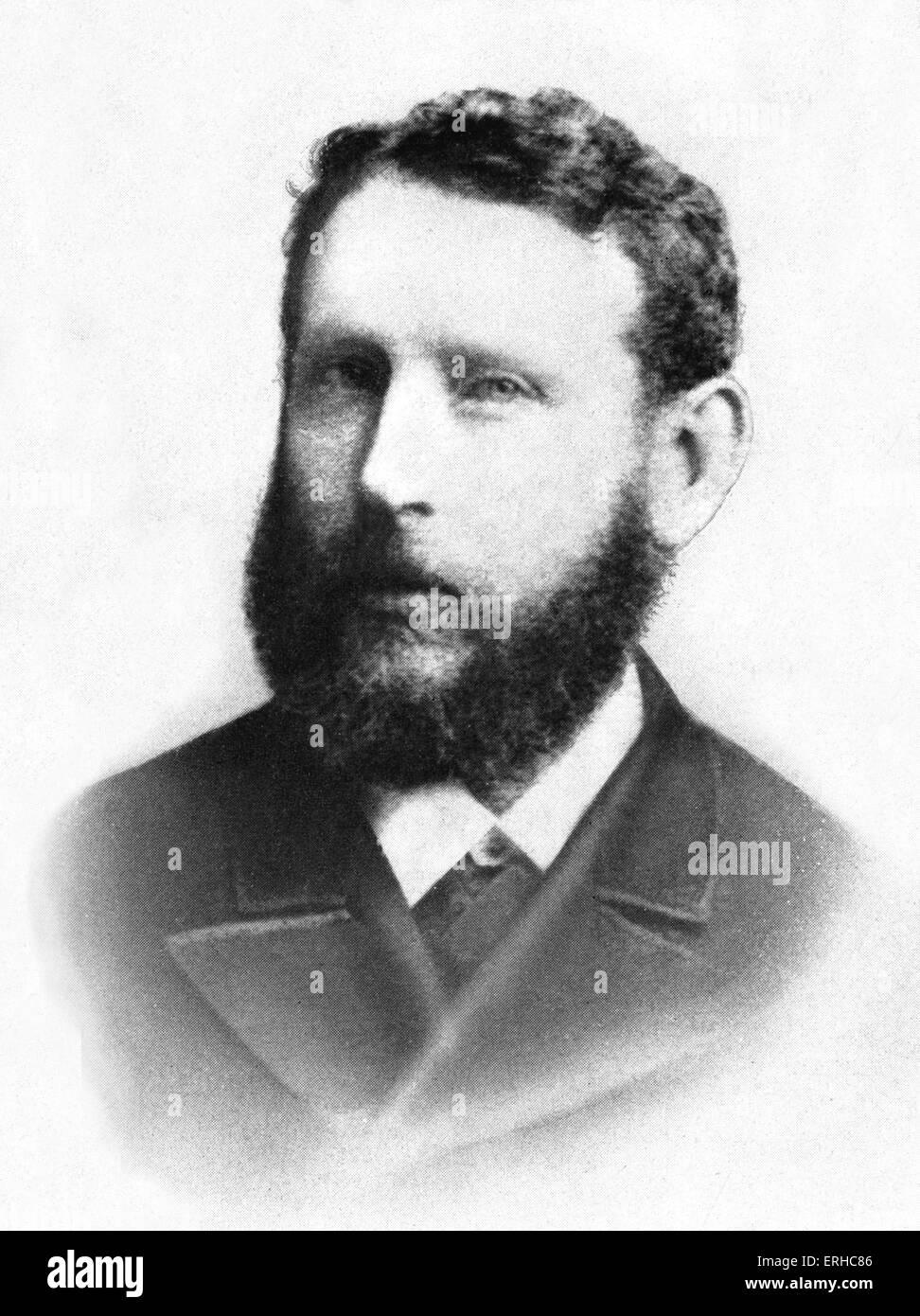 Solomon Schechter in 1887, London.  American -Romanian rabbi, academic scholar, educator,   founder and President - Stock Image