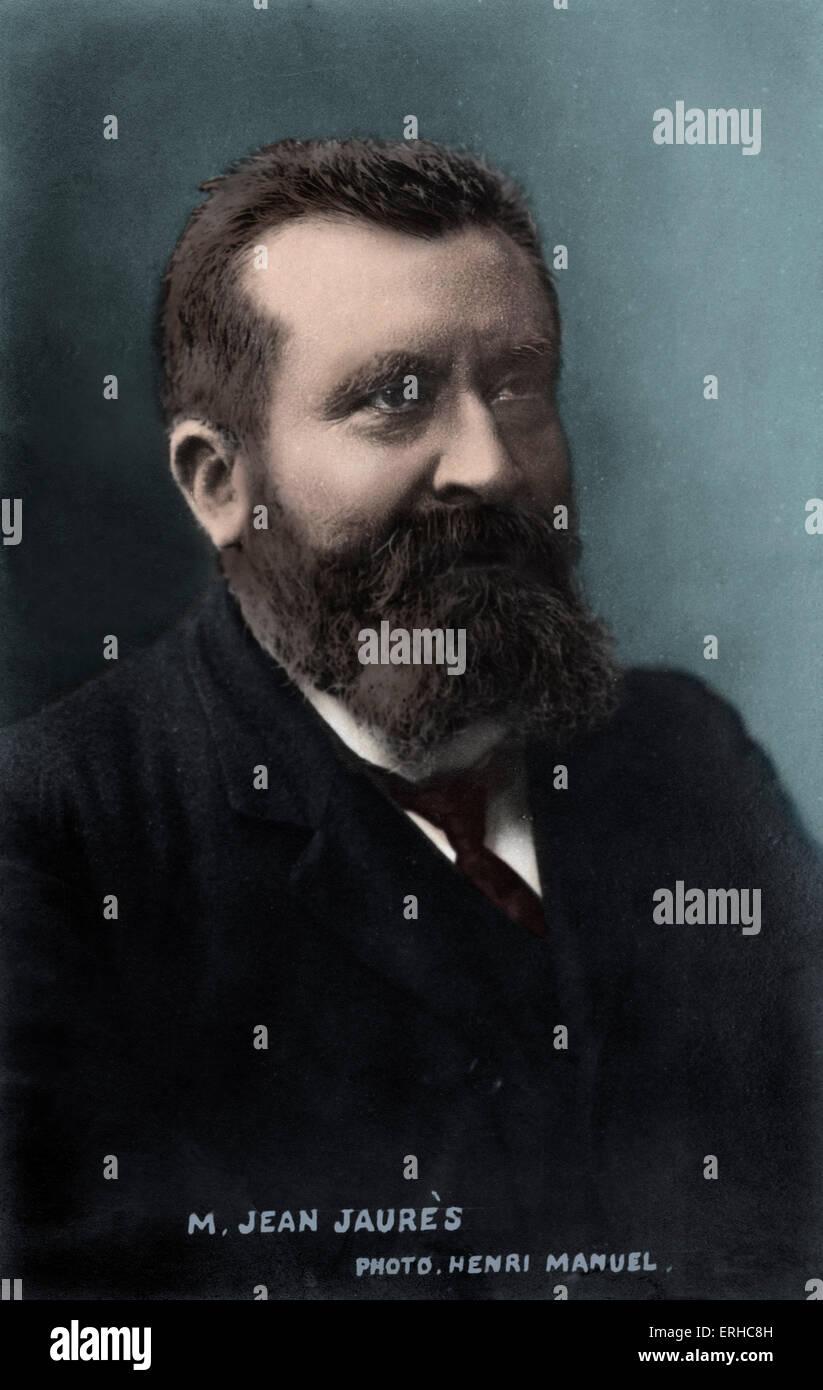 JAURÉS, Jean  - French socialist leader 1859 - 1914 - Stock Image