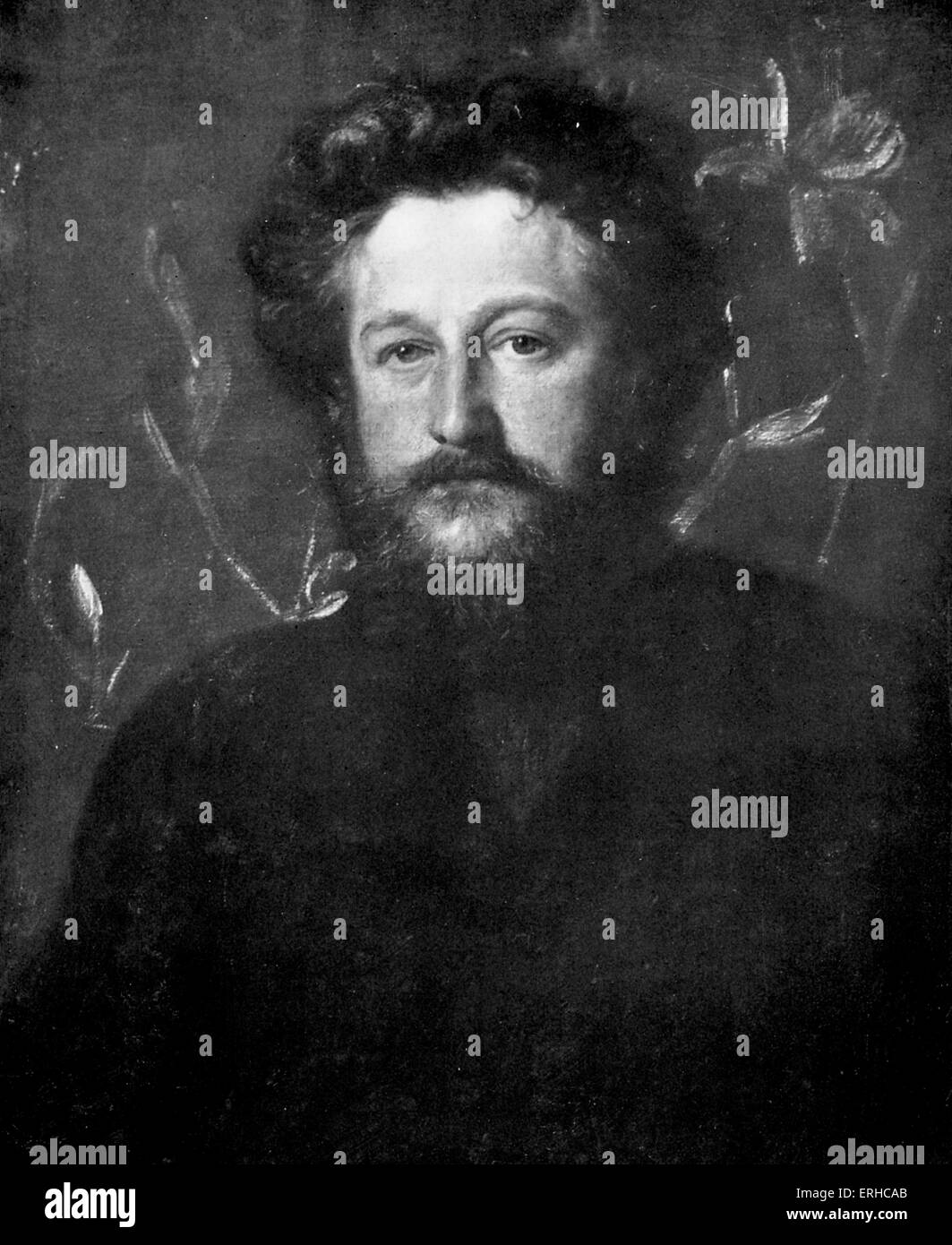 William Morris, portrait. English textile designer, artist and writer. Founder of the English Arts and Crafts Movement. Stock Photo