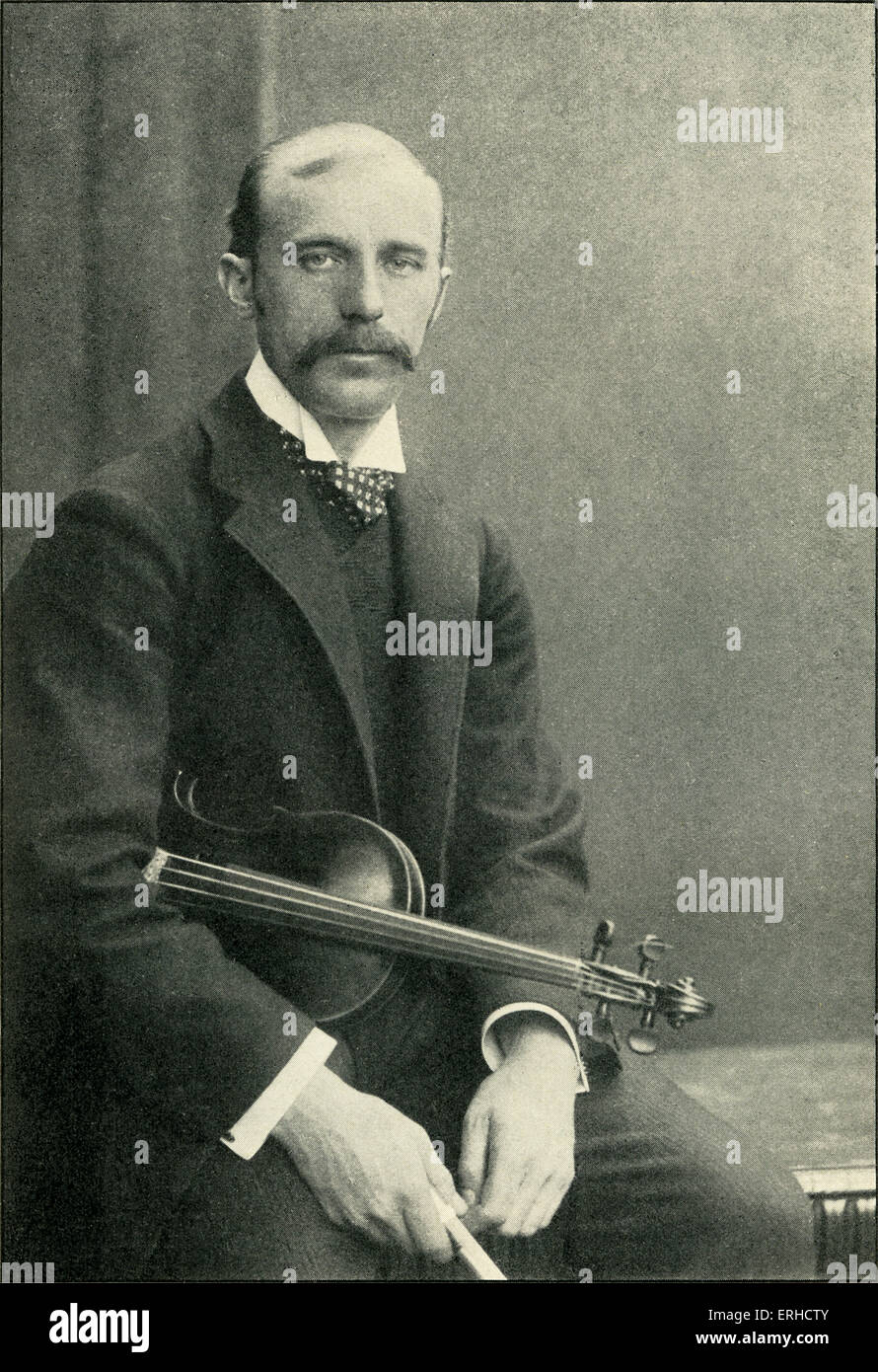 Willy Burmester, German violinist. 16 March 1869 – 16 January 1933. - Stock Image