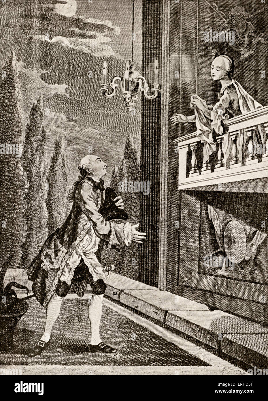 review of the balcony scene in william In the 'balcony' scene (act 2, scene 2), romeo and juliet's accidental union presents an opportunity to quell the raging feud between the montagues and capulets, whilst sharing their emotions of each other.