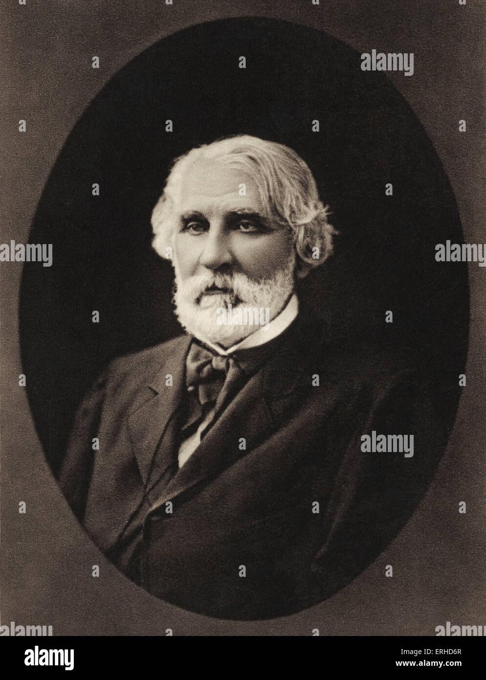 Ivan Turgenev  - portrait. Russian playwright 1818-1883 - Stock Image