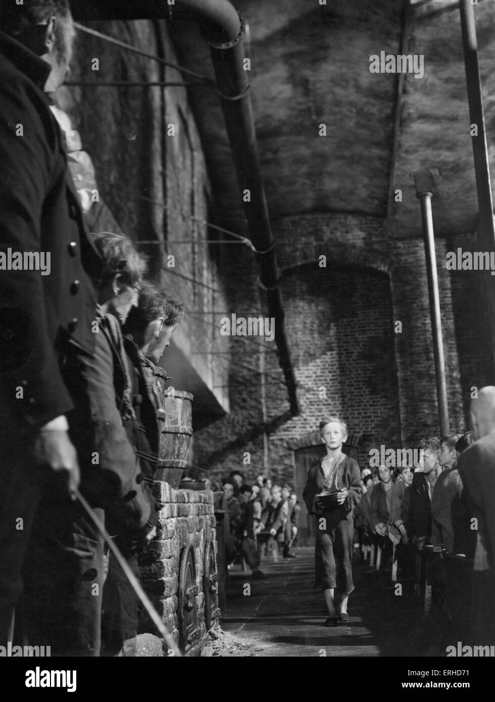 Oliver Twist. film still from 1948 Rank Film production of Charles Dickens'  book.  Oliver asks for more. British - Stock Image