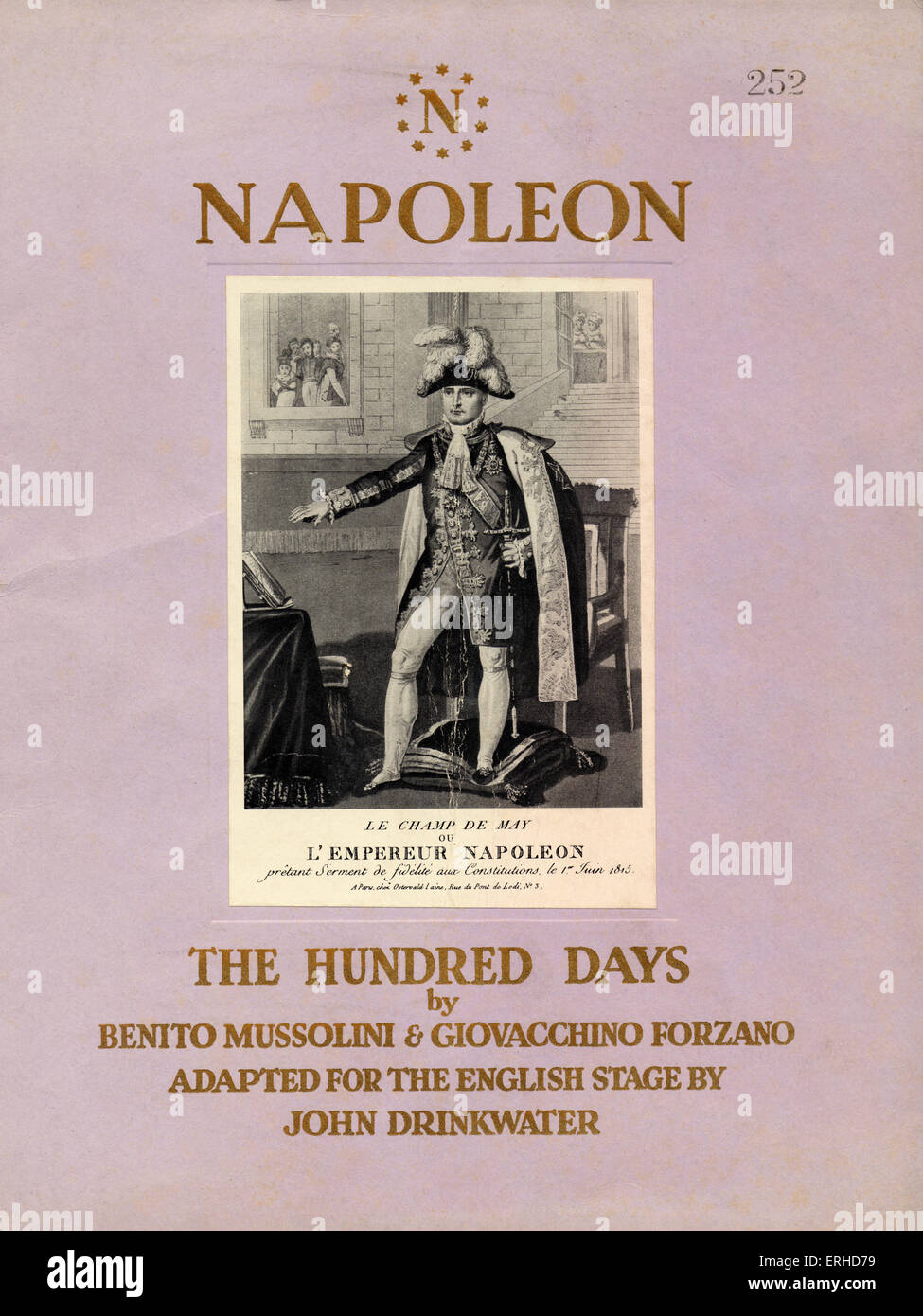 Napoleon - The Hundred Days - Play by Benito Mussolini & Giovacchino Forzano, adapted for the English stage - Stock Image