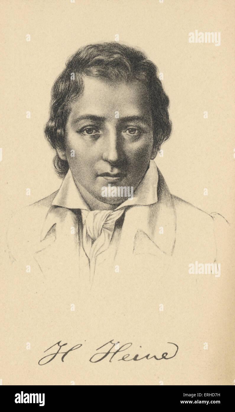 Heinrich Heine. German Poet writer, 1797-1856. - Stock Image