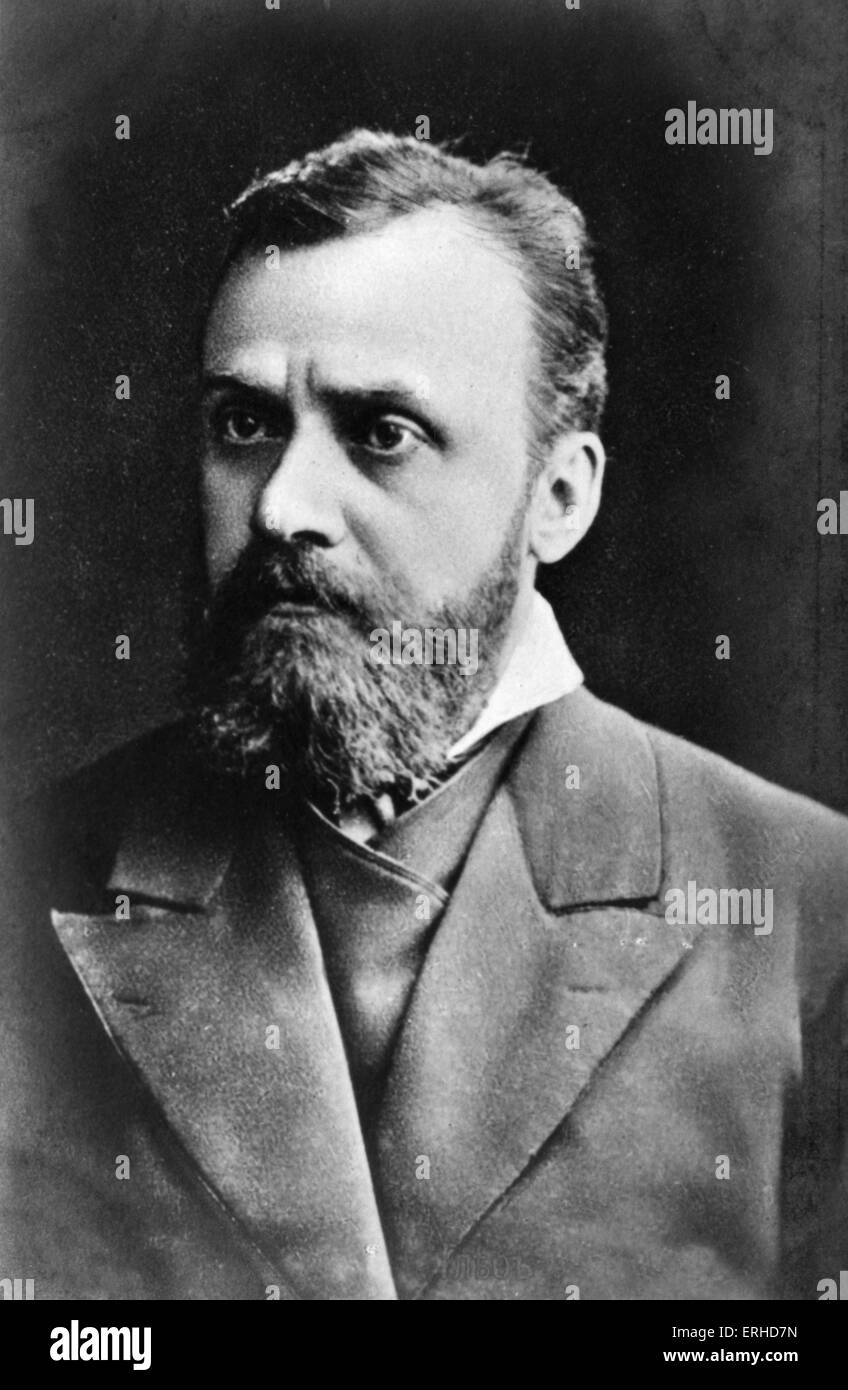 Gleb Ivanovich Uspensky - Russian intellectual and populist writer. October 25th 1843 - April 6th 1902 - Stock Image
