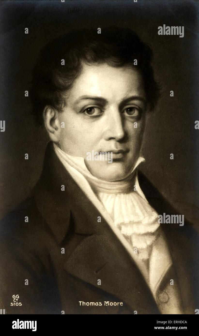 Thomas Moore Irish writer, 1779-1852. - Stock Image