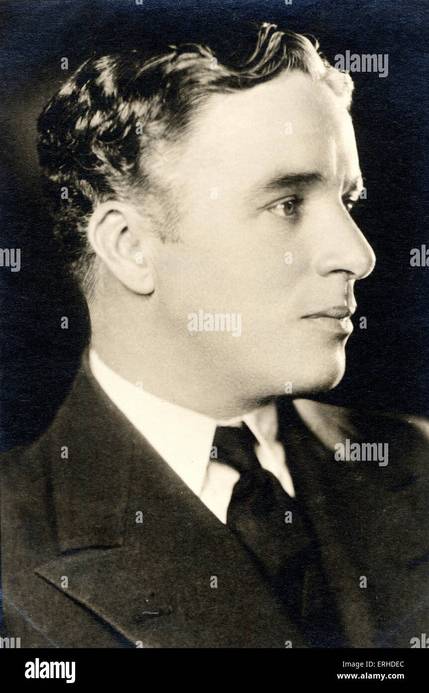 Charlie Chaplin, American British-born silent film actor and comedian, 1889-1977.   Postcard. - Stock Image