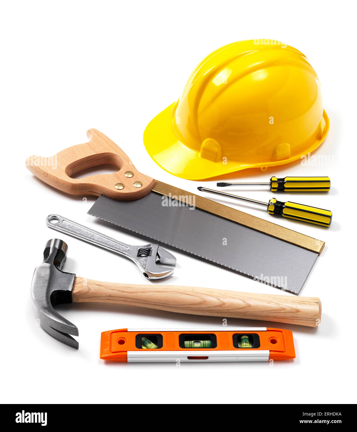 Work tools on white - Stock Image