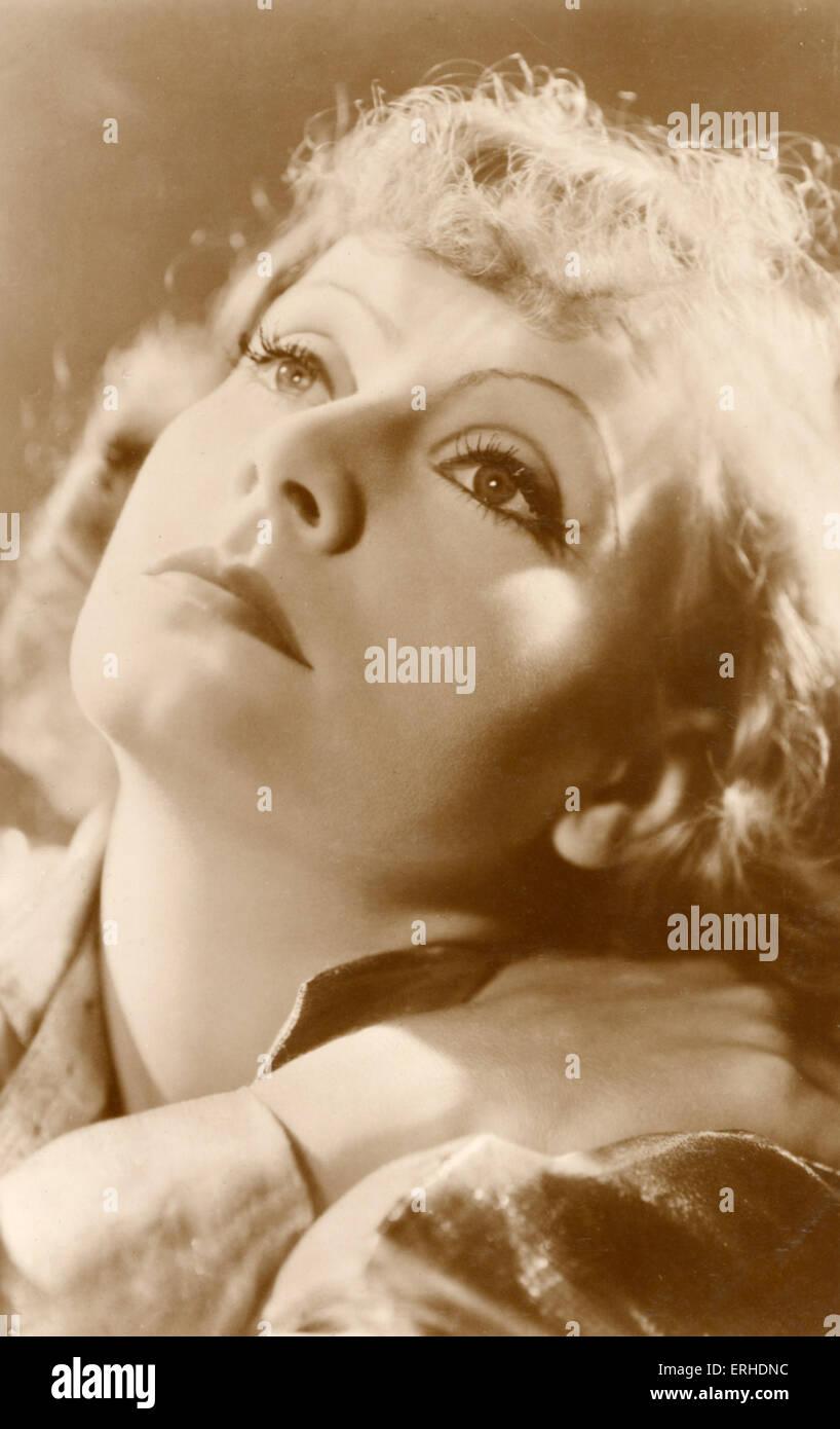 Greta Garbo Swedish actress,1905-1990. Postcard. - Stock Image