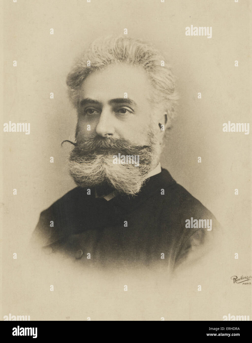 Max Nordau, Hungarian writer and philosopher, co-founder of the World Zionist Organisation. 1849 -1923 Reutlinger, - Stock Image