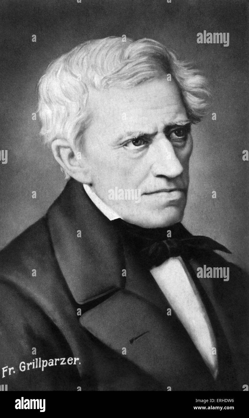 GRILLPARZER, Franz - Austrian playwright. 1791–1872. Friend of SCHUBERT - Stock Image