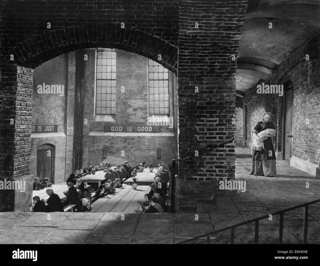 Oliver Twist film still from 1948 Rank Film production of Charles Dickens' book. British novelist, 7 February - Stock Image
